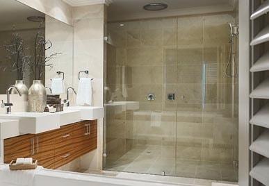 DESIGNED & INSTALLED FRAMELESS GLASS SHOWER SCREEN FOR BATHROOM