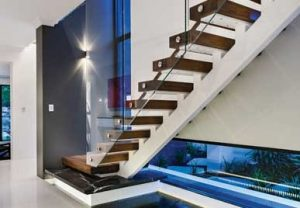 Frameless Glass Balustrade for Stairs