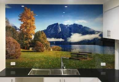 Printed Glass Splashback From Photo