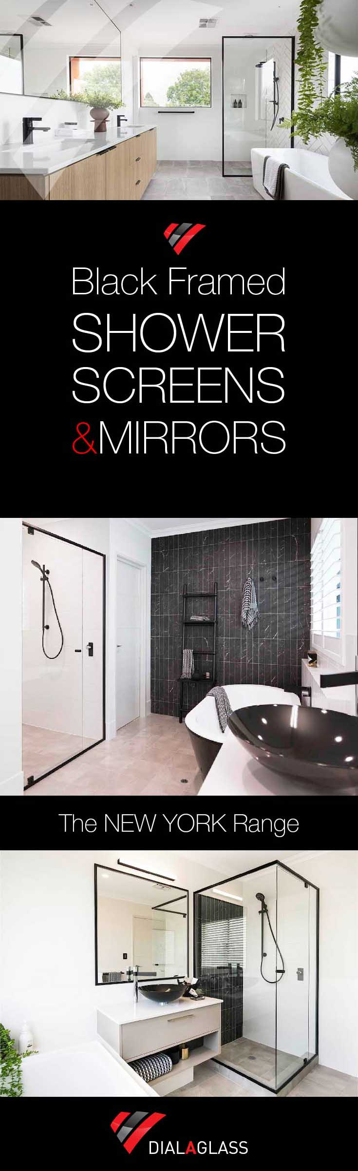 BLACK FRAMED SHOWER SCREEN EXAMPLES