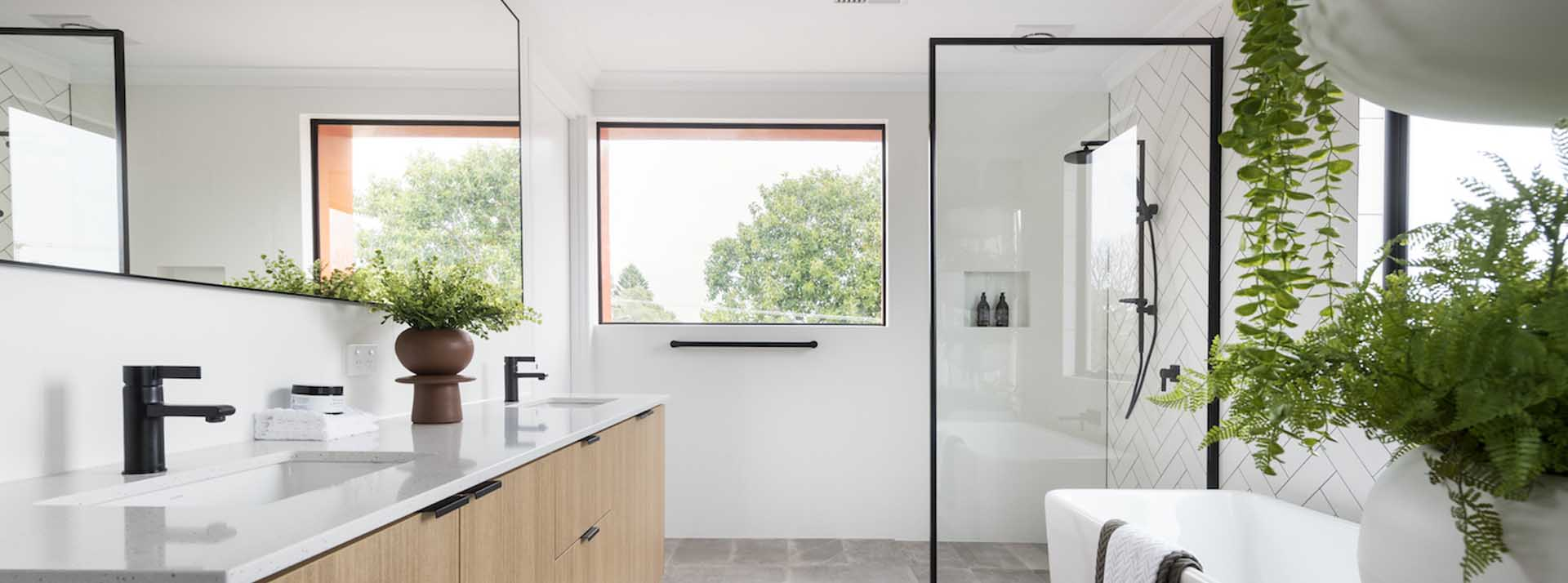 Black Frame for Shower Screen