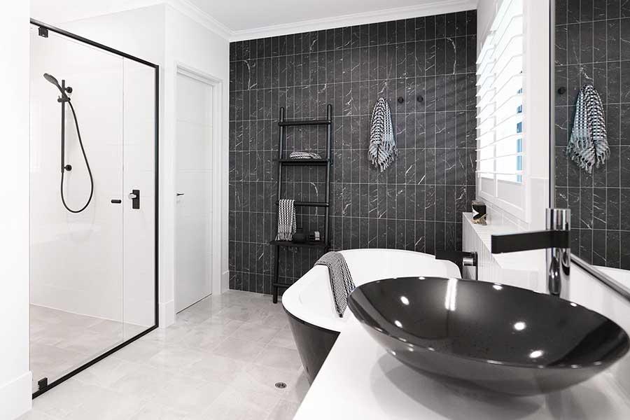 Black Framed Shower Screen