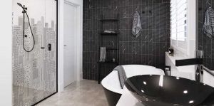 Printed glass shower screens