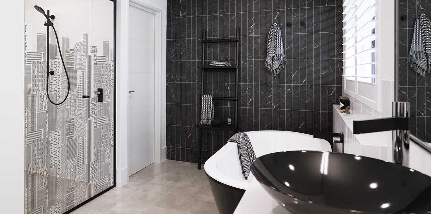 Printed glass shower screens