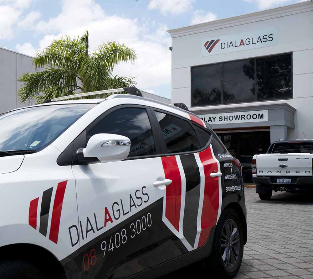 DIAL A GLASS SHOWROOM AND VEHICLE