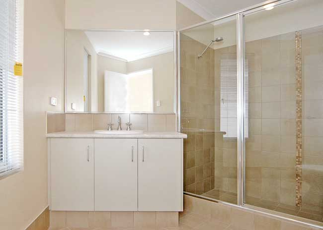 Framed Glass Shower Screen with Bright Silver Frame