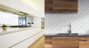 Glass Splashback or Tiles