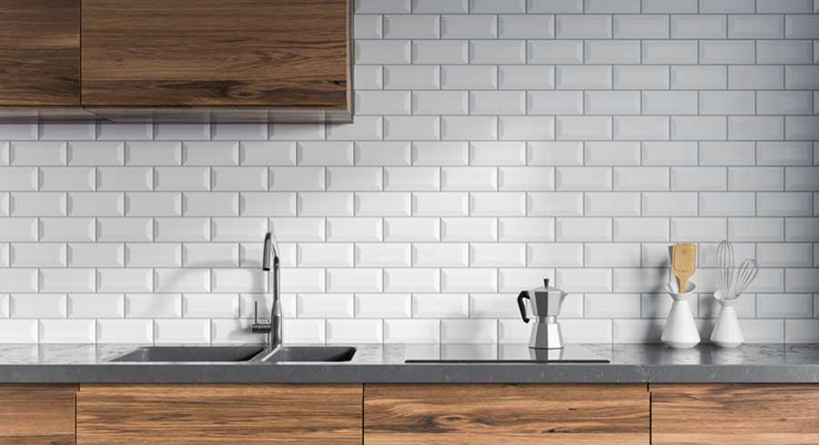 Tile splashback