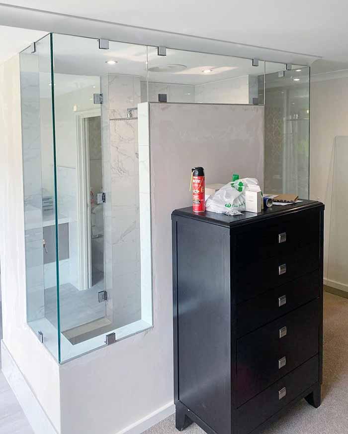 frameless shower screen in Secret Harbour